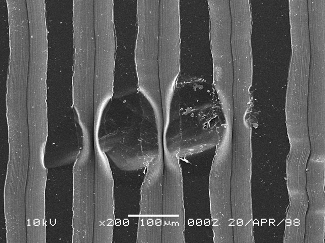 Damaged Record Grooves